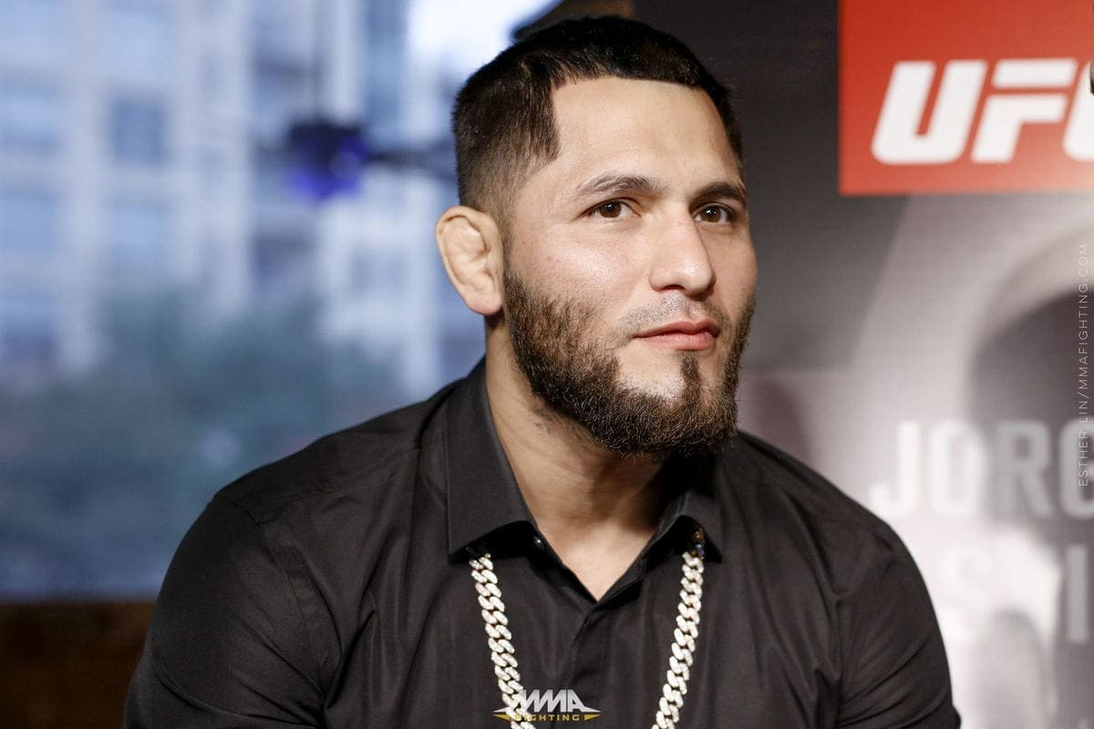 Jorge Masvidal was fed up with the British trash talk at the UFC London press conference and used one simple question to shut things down