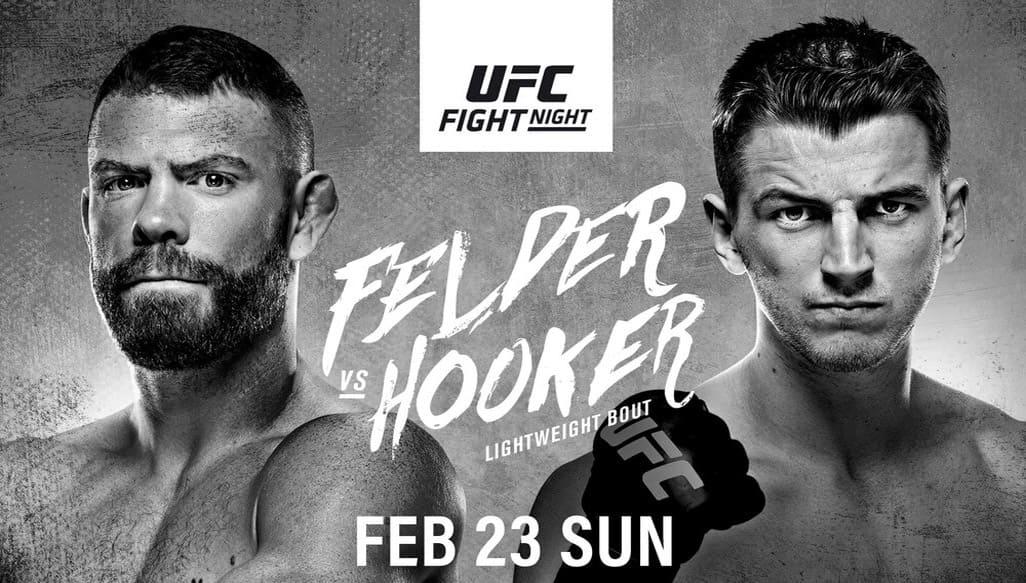 UFC Fight Night 168: Фелдер - Хукер дата проведения, кард, участники и результаты