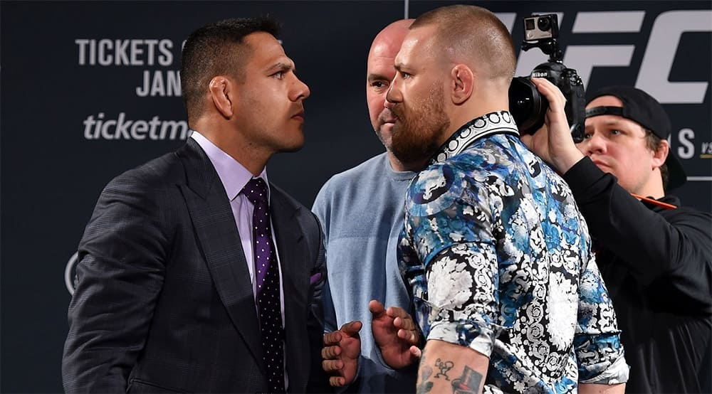 UFC superstar Conor McGregor reacts on backup for UFC 264 main event