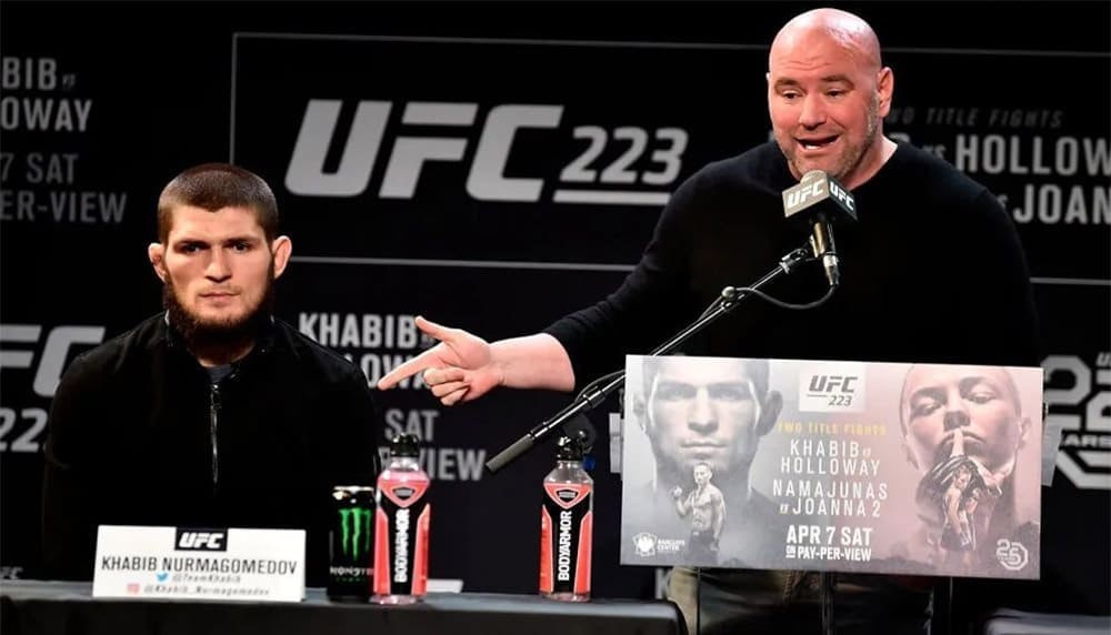 UFC head Dana White made a statement on the status of Khabib Nurmagomedov.