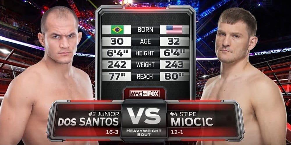 Видеоархив: Джуниор Дос Сантос против Стипе Миочича на UFC ...