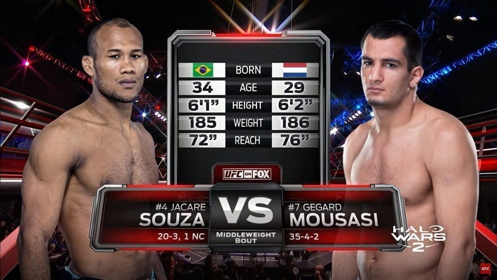 Видеоархив: Жакаре Соуза против Гегарда Мусаси на UFC ...