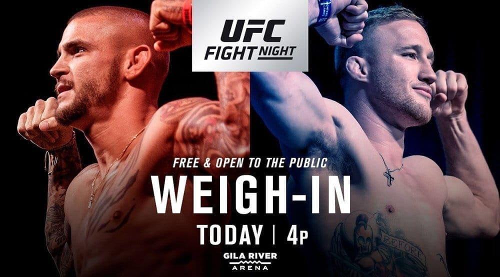 UFC on FOX 29: результаты официального взвешивания