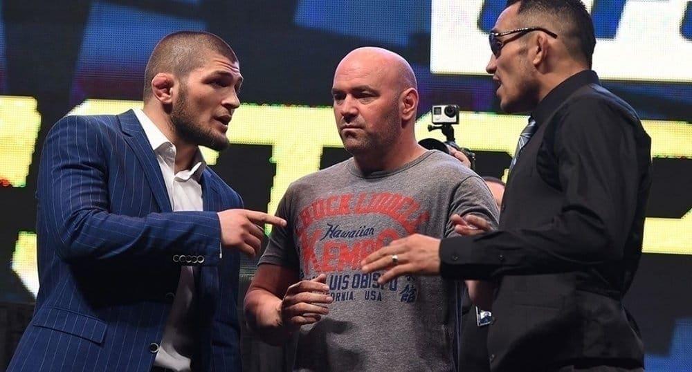 Хабиб Нурмагомедов и Тони Фергюсон обвиняют друг друга в нежелании принимать бой на UFC 217 в Нью-Йорке