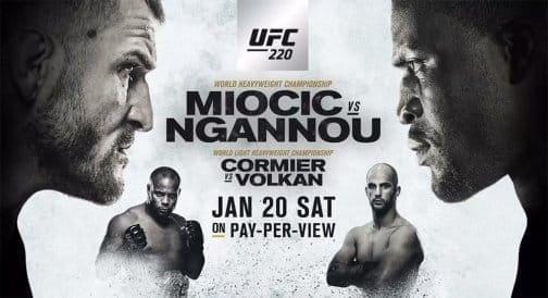 UFC 220: прямая трансляция