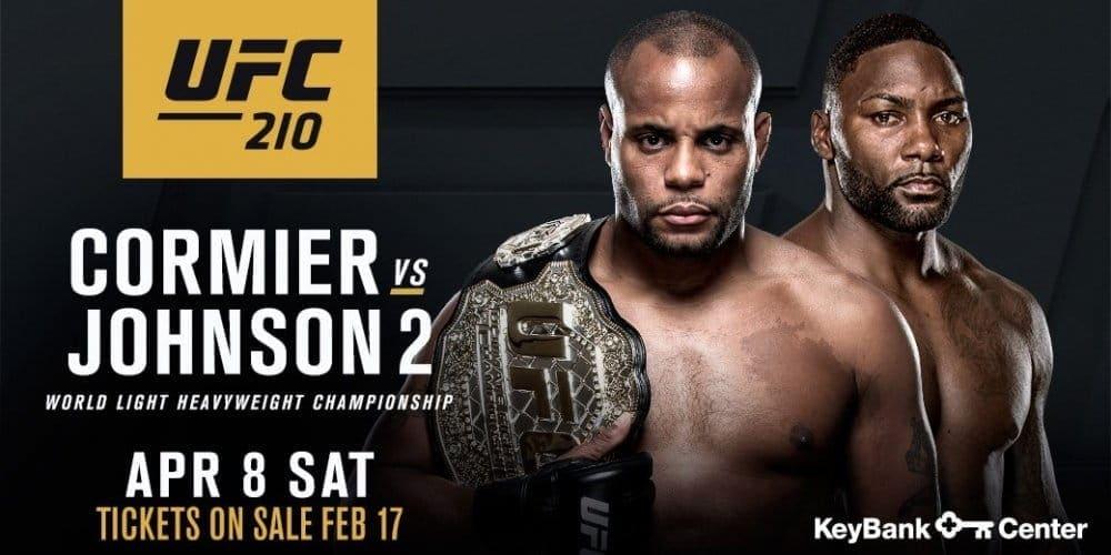Даниэль Кормье и Энтони Джонсон возглавят турнир UFC 210 в Буффало