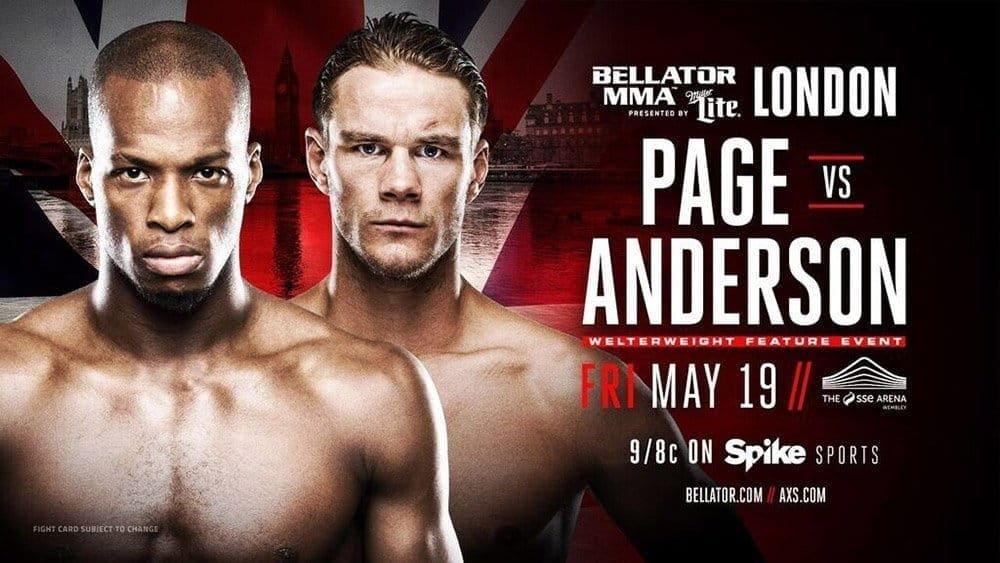 Майкл Пэйдж против Дерека Андерсона на Bellator 179 в Лондоне