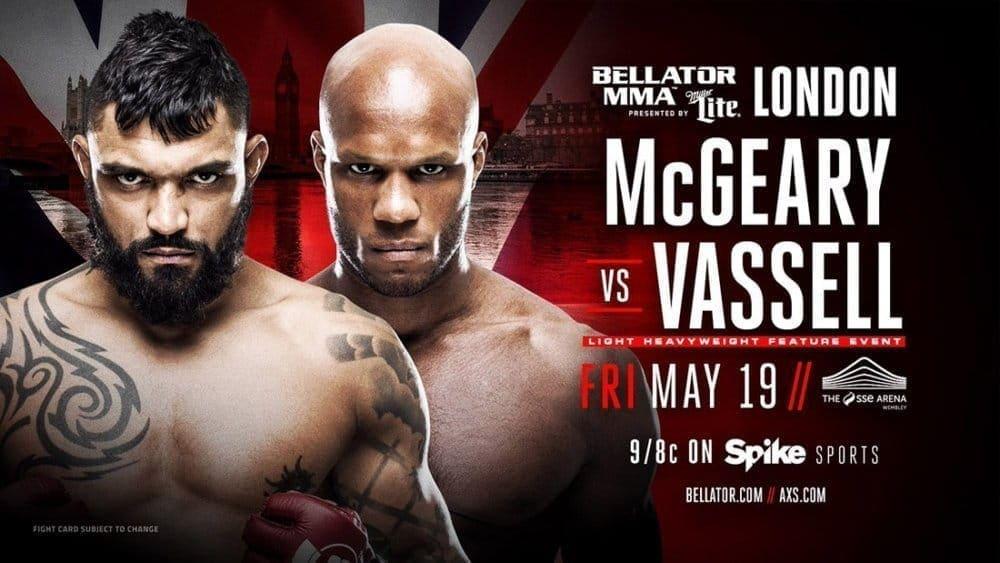 Лиэм МакГири против Линтона Васселла на Bellator 179 в Лондоне