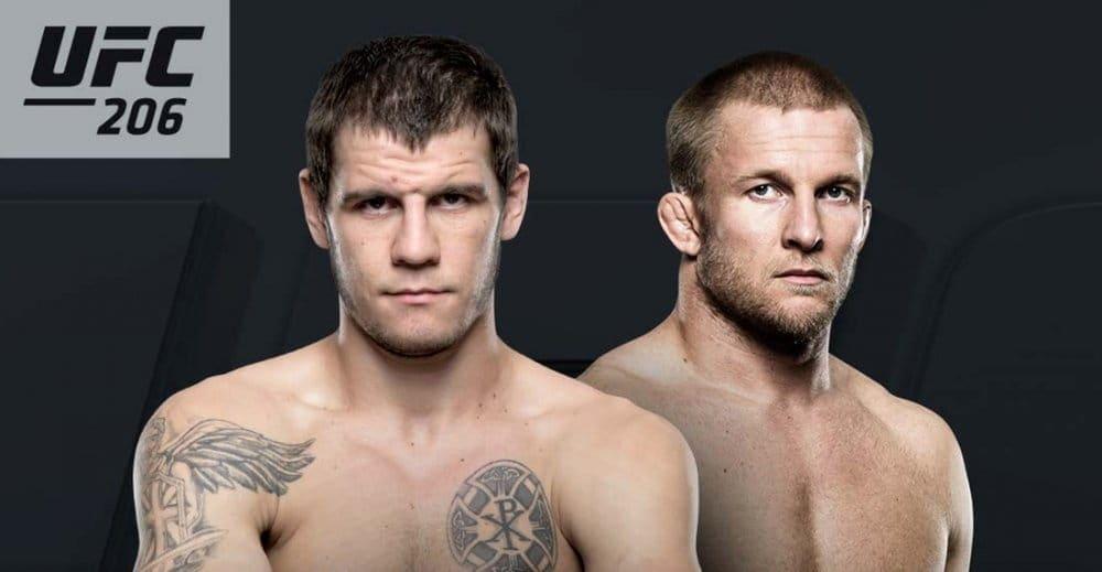 Никита Крылов против Миши Циркунова на UFC 206 в Торонто