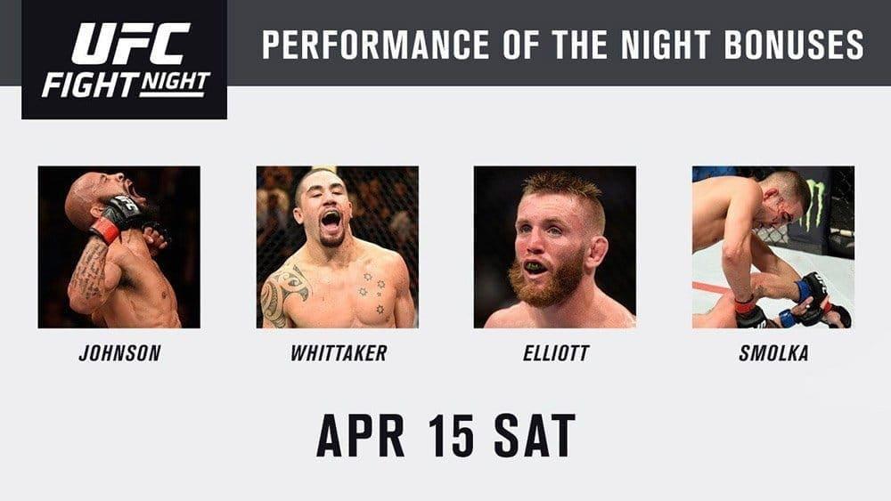 Бонусы турнира UFC on FOX 24