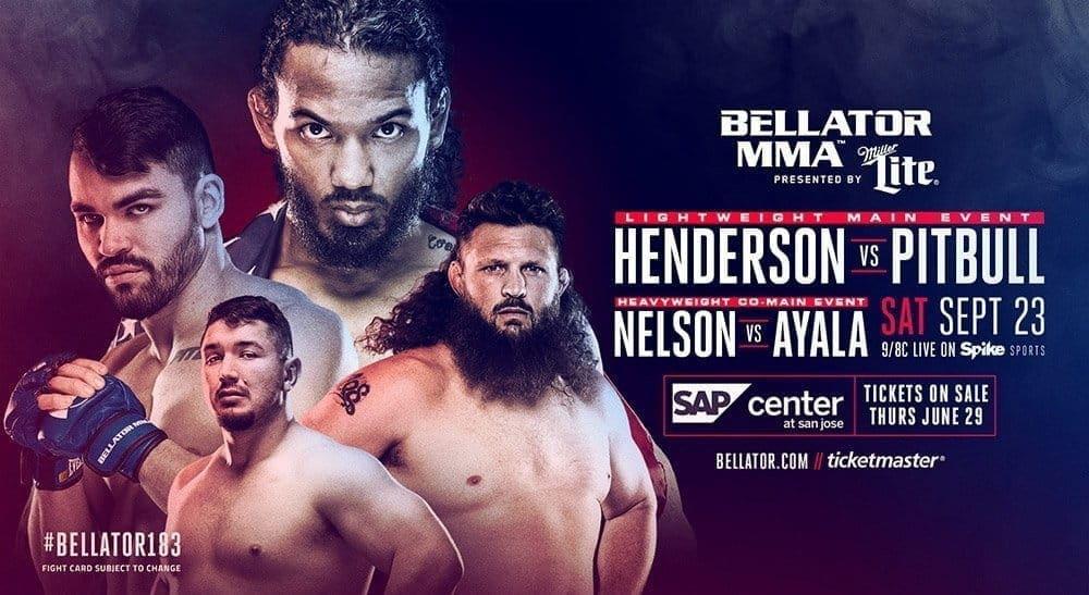 Хендерсон против Фрейре и Нельсон против Айалы на Bellator 183 в Сан-Хосе