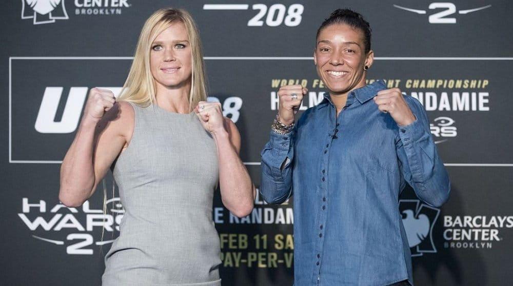 UFC 208. Холм перевесила Рандамье на500 граммов