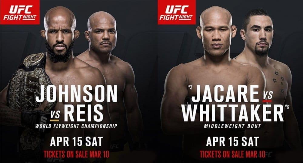 Джонсон против Хейса и Соуза против Уиттакера на UFC on FOX 24 в Канзас-Сити