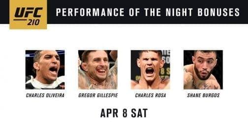 Бонусы турнира UFC 210
