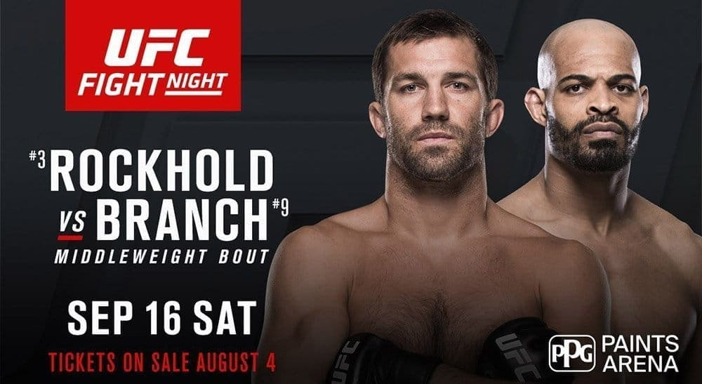 Люк Рокхолд против Дэвида Брэнча на UFC Fight Night 116 в Питтсбурге