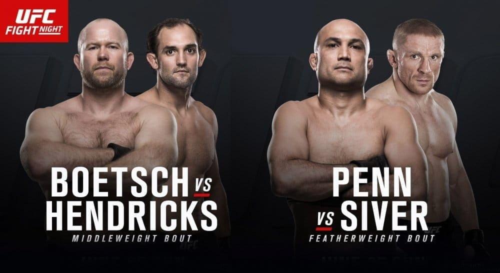 Хендрикс против Боеча и Пенн против Сивера на UFC Fight Night 112 в Оклахоме