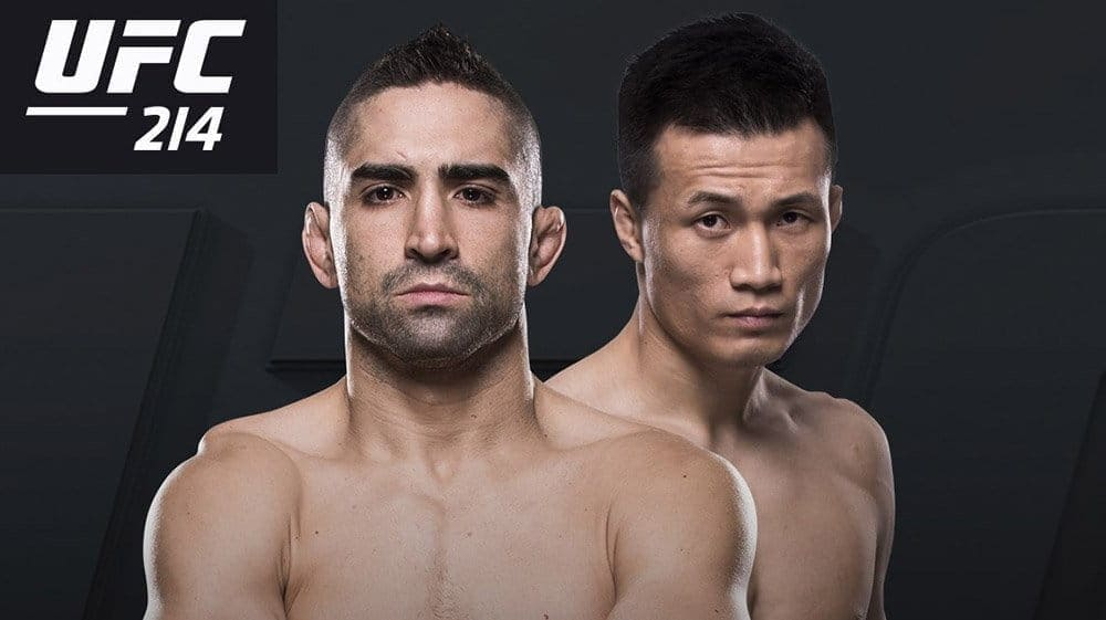 Корейский Зомби против Рикардо Ламаса на UFC 214 в Анахайме